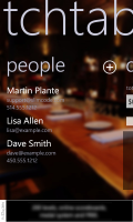 People - main screen