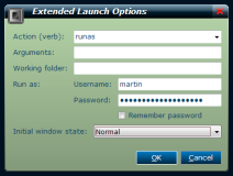 slimLAUNCH - Extended launch options when launching with Ctrl-Enter